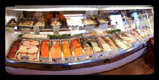 Old Saybrook, CT: The only Zagat Rated fish market in Connecticut.  On staff chief makes soups, chowders, salads,s