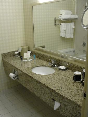Crowne Plaza Hotel Cincinnati Blue Ash: Granite counter top[