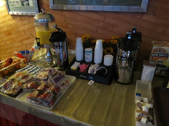 Warm Mineral Springs Motel: Warm Mineral Springs, Mar 2016 - breakfast offerings