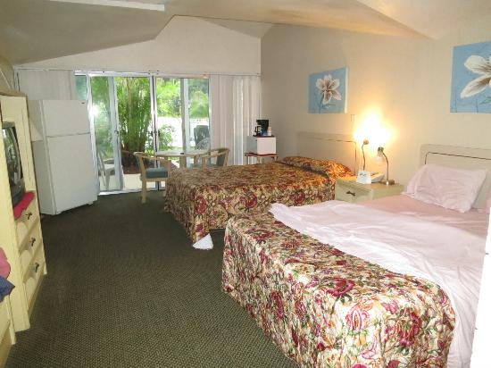 Warm Mineral Springs Motel: Warm Mineral Springs, Mar 2016 - room w/full sized fridge