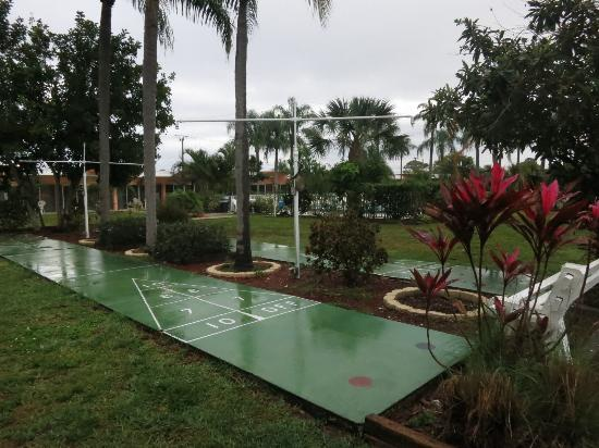 Warm Mineral Springs Motel: Warm Mineral Springs, Mar 2016 - shuffleboard
