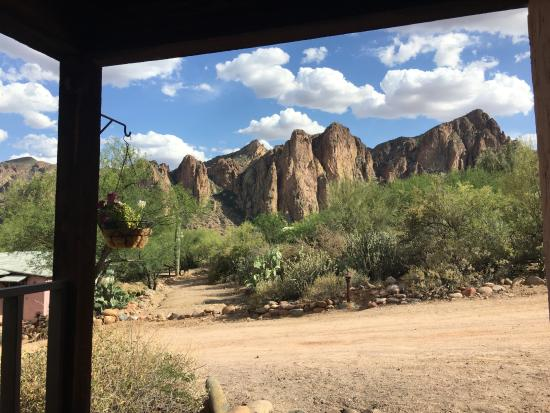 Saguaro Lake Guest Ranch: View from the porch of my cabin.