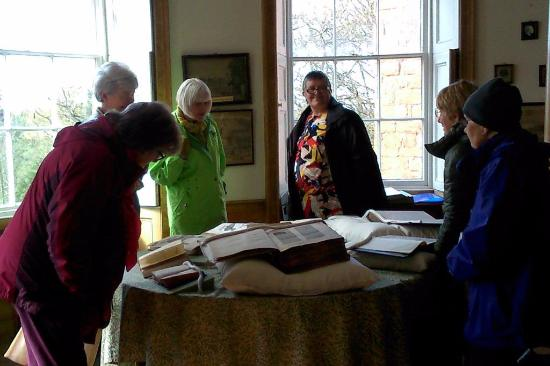 Hartlebury, UK: Our group enjoying some specially requested books.