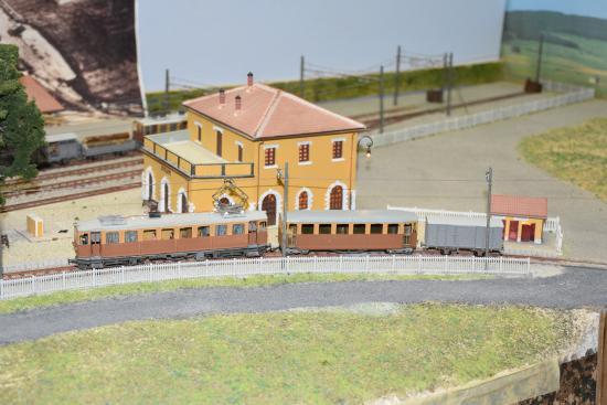 Spoleto, Italien: uno scorcio del plastico: una stazione della linea