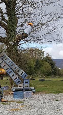 Outdoors and Dirty Extreme: High Ropes Crate Stacking