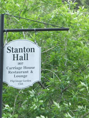 Natchez, MS: Sign to Stanton Hall