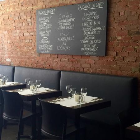 Restaurant Mozza Pates et Passions: Restaurant MOZZA pâtes et passions 1326 Ste-Catherine Est, Montreal BYOW / AVV