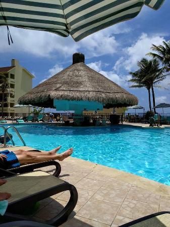 swim up pool bar/palapa