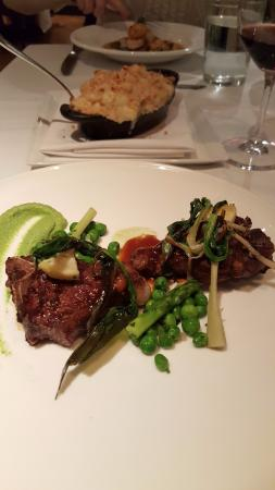 Vidalia Restaurant : lamb porterhouse and mac & cheese