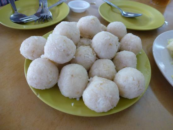 Heng Hainanese Chicken Rice Ball: Chicken rice rolled into balls
