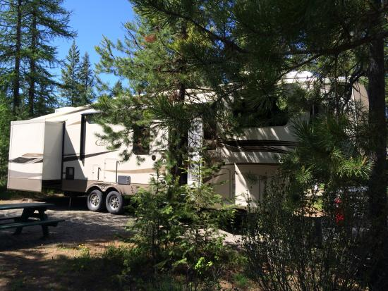 Kimberley Riverside Campground: Nicely situated in the trees