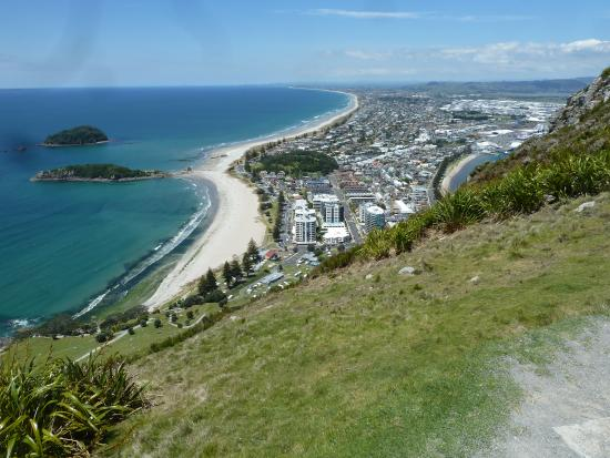 Mount Maunganui, New Zealand: View to the East from the Summit