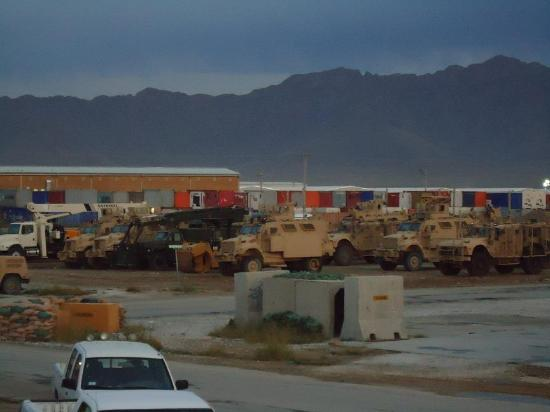 Bagram, Afghanistan: A great view of BAF's exotic bunkers.