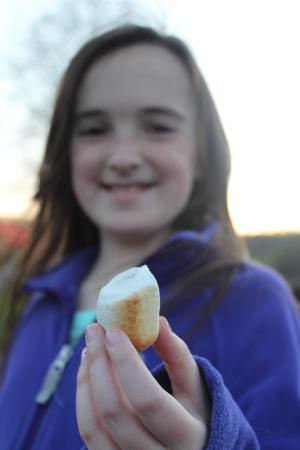 Shawnee on Delaware, Пенсильвания: Roasting marshmallows and making s'mores at the campfire ring each evening