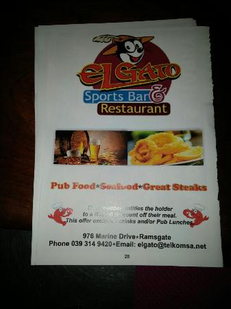 Ramsgate, Sudáfrica: El Gato Sports Bar & Restaurant