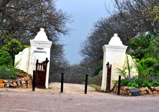 Main entrance of Groot Constantia, Cape Town, South Africa