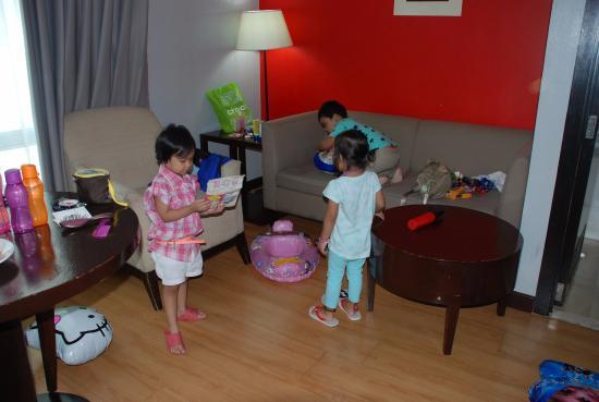 2 Bedroom Suite Living Room Area Picture Of Lancaster Hotel Manila Mandaluyong Tripadvisor