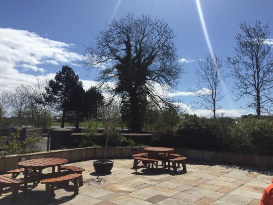 Fota Island, Irland: Alfresco dining