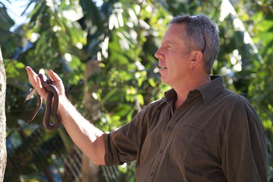 b464a853c30712 Riverbend Crocodile Farm  Howard giving a very informative talk on snakes