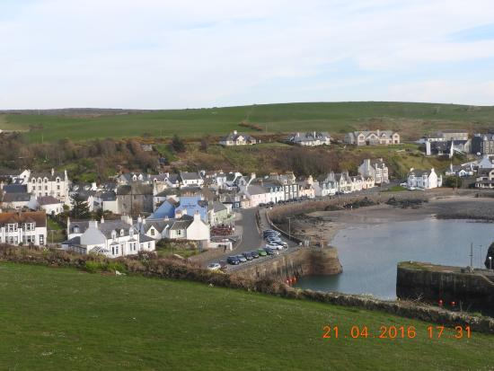 The Portpatrick Hotel: View from ground of hotel