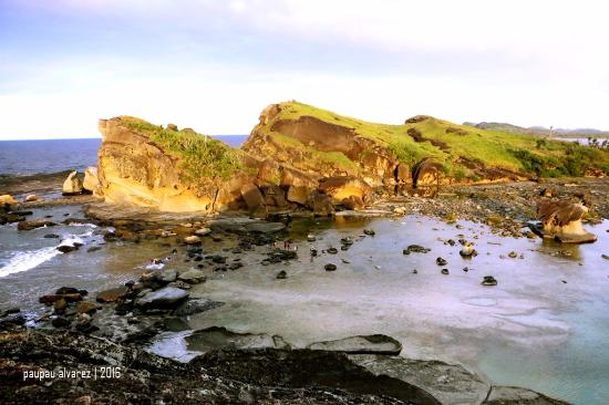 Biri, Philippines: view from the top of Bel-at Rock Formation