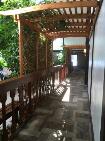 Shawano, WI: pool area hallway