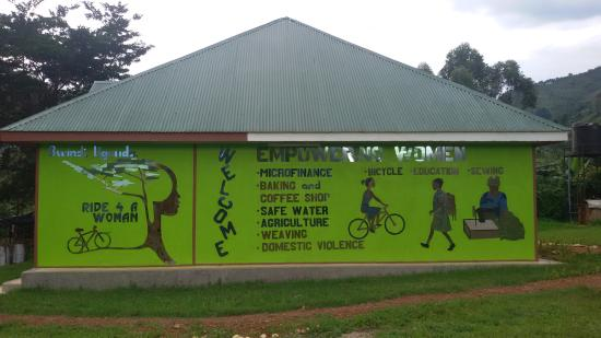 Bwindi Impenetrable National Park, Uganda: This mosaic is at the women's centre and shows our programs
