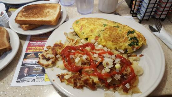Fort Wayne, IN: Veggie omelet minus the mushrooms