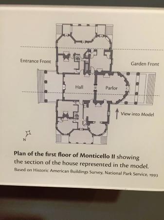Charlottesville, Wirginia: footprint of monticello