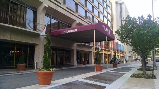 Entrance To Crystal City Marriott At Reagan National Airport In Arlington Va