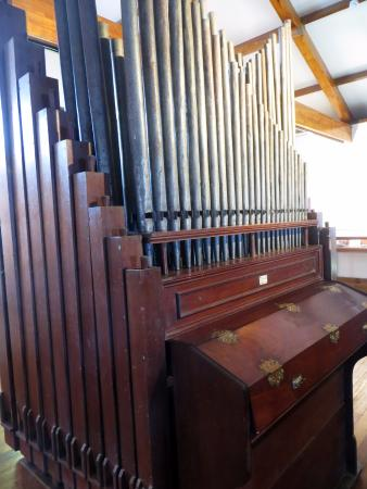 The first little pipe organ on the island (not working any