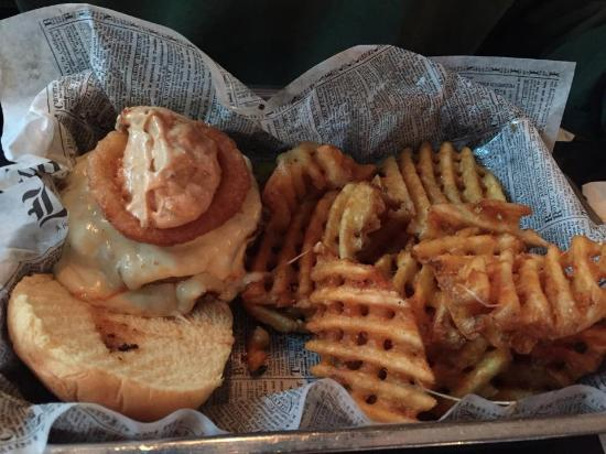 Morristown, NJ: Chipotle Burger w/ waffle fries.