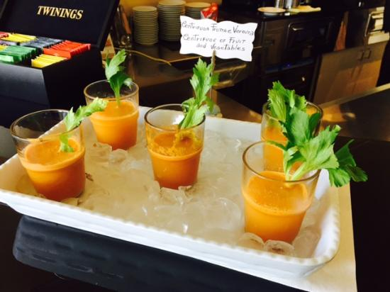 Savoy Hotel: Centrifughe frutta e verdure