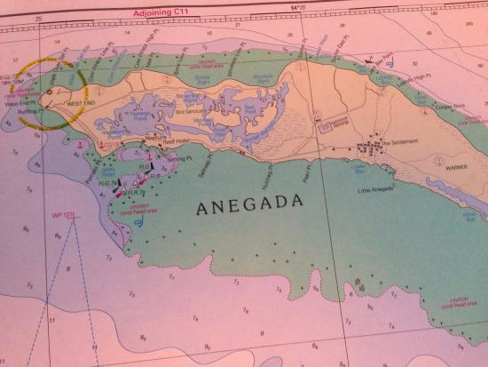 Map of the Island Picture of Cow Wreck Beach Bar Anegada