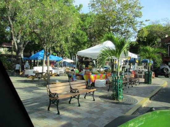 Open Market in the town square across from the ferry dock- Cruz Bay