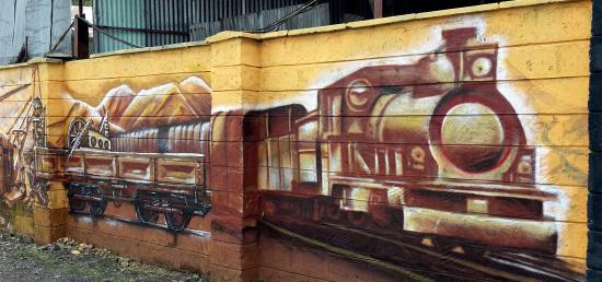 Railway Museum: One of several wall murals