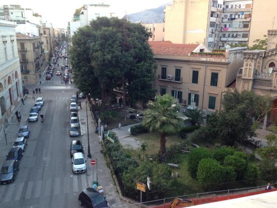 view from the balcony picture of hotel garibaldi palermo rh tripadvisor com