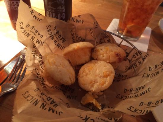 Jim 'N Nick's Bar-B-Q: Cheese biscuits are awesome!
