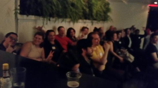 Shake Rattle & Roll Dueling Pianos: A little blurry, but this was my massive group!