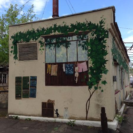 Odessa Film Studio : Street art on a boiler building