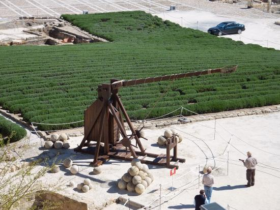 Alcala la Real, Spanje: Catapulte