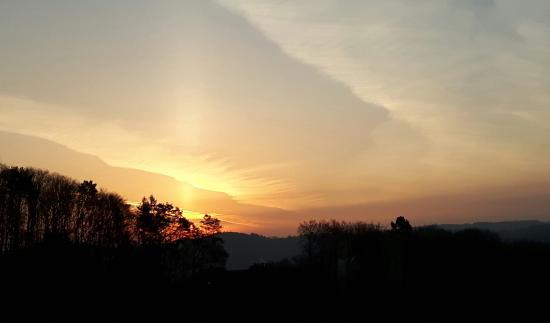 Sonnenaufgang über Waldbreitbach