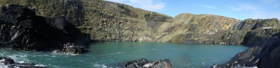 Abereiddy, UK: View from the ocean