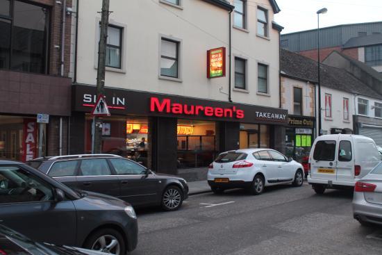 Maureens Fish & Burger Bar: Front door