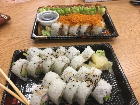 Rice Monkeys : On April 29, 2016 I went with a friend to have lunch and got 2 California Rolls, 1 Crunchy Mango