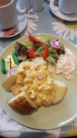 Pendre Garden & Craft Centre: my coronation chicken jacket potato
