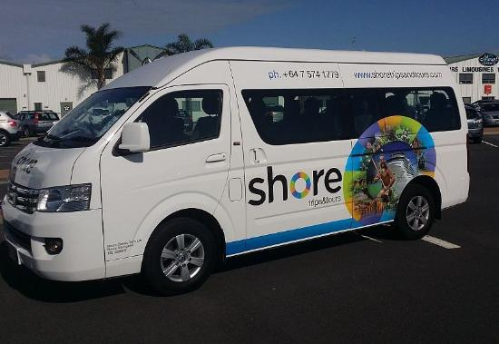Mount Maunganui, New Zealand: Our newly branded minivans have arrived