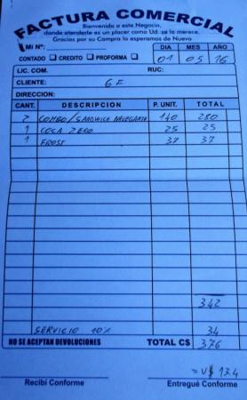San Jorge, Nikaragua: 376 cordobas