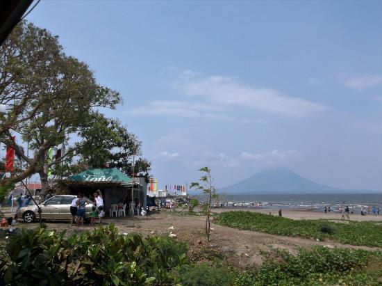 San Jorge, Nikaragua: Vue de notre table