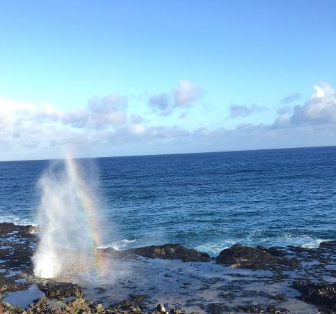 Spouting Horn: Sprouting horn and rainbow formation!